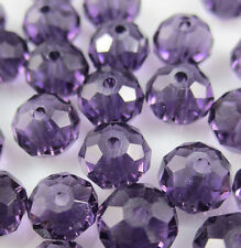 NEW Jewelry Faceted 100 pcs Violet #5040 3x4mm Roundelle Crystal Beads DIY # D1