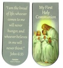 "1st First Holy Communion MAGNETIC Bookmark "" I am the bread of life; whoever...."