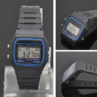 Retro Silikon Digital Uhr 80er Trend Vintage Damen Herren Kinder Armbanduhr 877