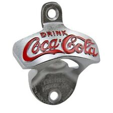 Drink Coca Cola Coke Wall Mount Crown Stationary Bottle Opener Cast Iron ~ New