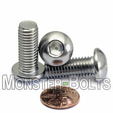 M10 x 25mm - Qty 10 - A2 Stainless Steel BUTTON HEAD Socket Cap Screws  ISO 7380