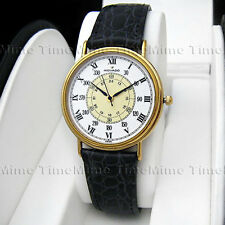 Men's Movado MUSEUM CLASSIC White Dial w/ Indicators Gold Swiss Quartz Watch