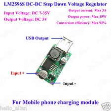 LM2596S DC-DC Buck Step Down Converter 7-35V 9V/12V/24V to 5V/3A USB Charger DIY