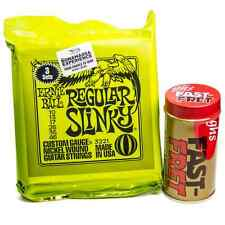 Ernie Ball 3221 3 Sets Regular Slinky Electric Guitar Strings 10 46 Fast Fret