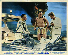MARACAIBO 1958 Cornel Wilde, Jean Wallace, Abbe Lane UK 10x8 LOBBY SET