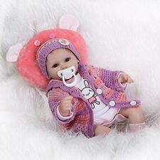 Nicery Reborn Baby Doll Soft Silicone Vinyl 18inch 45cm Magnetic Mouth Lifelike