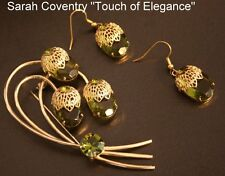 Sarah Coventry Collectors TOUCH OF ELEGANCE Crystal Pin Earrings Juliana 3pc SET