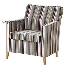 Ikea COVER for IKEA KARLSTAD Chair Armchair SLIPCOVER Dillne Gray Beige Stripe