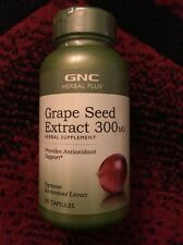 GNC Herbal Plus Grape Seed Extract 300 mg (100 Capsules)-Antioxidant Support