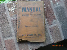 Vintage REO Motors Truck and Drivers Manual