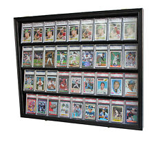 36 Graded Baseball Football Basketball Pokemon Card display Case Frame, CC02-BLA