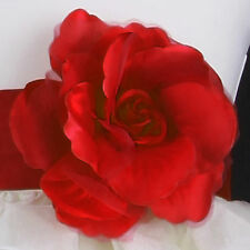 Rose Satin Fabric Lady Woman Wedding Flower Girl Dress Pin Brooch MANY COLORS