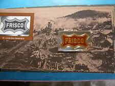 FRISCO ST LOUIS SAN FRAN RXR ENAMEL AMERICAN RAILROADS SILVER BAR RARE PAPER INC