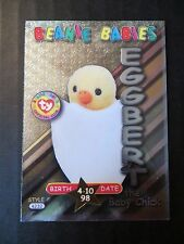 Ty Beanie Babies Series III S3 ~ Silver ~ BBOC Rookie Card 34 Eggbert The Chick