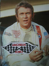 STEVE MCQUEEN PATCH FLAG RACING JACKET LE MANS FILM VINTAGE STYLE HINCHMAN NOMEX