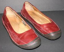 "Pre-worn Women's KEEN Red Leather ""Golden Ballerina"" Flats US 7.5, UK 5, EUR 38"
