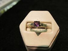 Vintage Amethyst Womens Ring 10K GOLD Must See No Reserve