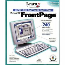 Learn Microsoft Frontpage by Learn2.Com  Beginner to Advanced   **NIB**