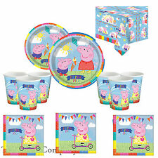 Peppa Pig Birthday Party Kit for 16 Children -Plates Cups Napkins
