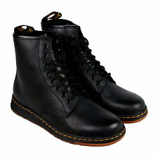 Dr. Martens Newton 8 Eye Boot Mens Black Leather Casual Boots Shoes UK 10