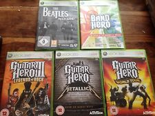 XBOX 360 Guitar Hero Bundle 5x Metallica leyendas 3 World Tour Beatles Rock Band