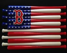 Boston Red Sox Team Logo Baseball Bat Flag (Choose Team And Colors)