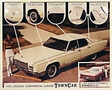 Print White 1972 Lincoln Continental Town Car Four Door and Coupe by Eagle Coach