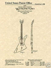 GIBSON EXPLORER FUTURA PATENT Art Print READY TO FRAME!! guitar Ted McCarty 1958