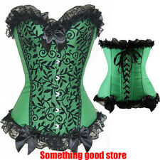 Women Bustier Top Burlesque Boned Corset Dress Basque lingerie Shaper Plus S-6XL