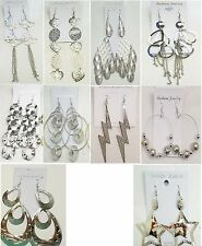 Wholesale lot10 pairs Fashion  Big Dangle Silver Plated  Earrings US-SELLER #102