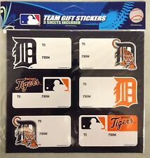 Detroit Tigers Christmas Present Name Labels - Team Gift Stickers - To/From