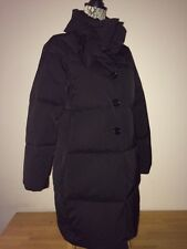 $698 KATE SPADE  Black Funnel Neck with BOW Down Puffer  Coat size S