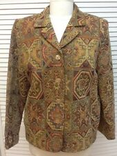 Appleseed's Tapestry 4 Button Jacket, Fall Colors, Size 14, EUC