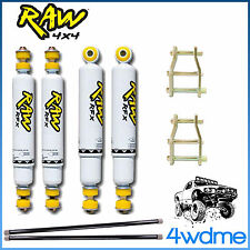 "Nissan Navara D22 RAW F & R Shocks + Torsion Bar + Shackles 2"" 50mm Lift Kit"