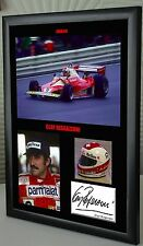 "Clay Regazzoni F1 Ferrari Framed Canvas Signed Print ""Great Gift"""