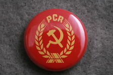 "PCR Romania Romanian Communist Party 1"" Button Badge New Ceaucescu Pauker"