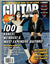 GUITAR WORLD Magazine ACE FREHLEY Billy Gibbons 100 RARE GUITARS w/POSTER '97 NM