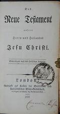 Das Neue Testament – London 1827 - Ganzleder