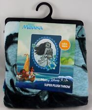 New Disney Moana Blue Super Soft Plush Throw Blanket 48 X 60""