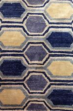 Marvelous Modern - Contemporary Hand-Woven Indian Rug - Silkette Carpet - 2 x 3