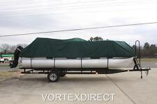 NEW VORTEX COMBO PACK GREEN 18 FT ULTRA PONTOON/DECK BOAT COVER+SUPPORT SYSTEM