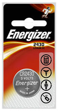 2 x Energizer CR2430 3V Lithium Coin Cell Battery 2430 DL2430 K2430L ECR2430