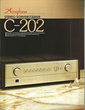 Accuphase c-202 Catalogo Prospetto Catalogue datasheet brochure