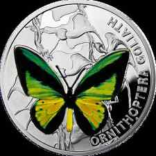 SALE! Niue 1 $ 2012 Butterflies - Ornithoptera Goliath Silver