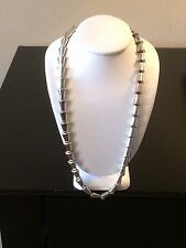 Vintage Signed Jeray Sterling Silver Jeray Rice Weiner Necklace 16 Inch