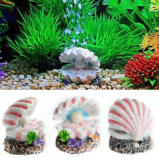 Shell Pearl & Air Stone Aquarium Fish Tank Ornament Shell Bubbler Bubbling Decor