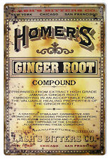 """Reproduction Homers Ginger Root Sign 12""""x18"""""""
