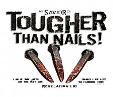 T4 4 Transfers My savior is tougher than nails Revelations 1:10  Heat press MUST