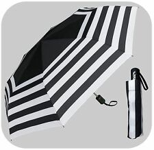"42"" Stripe Mini Auto-Auto Rain Umbrella - RainStoppers Rain/Sun UV"