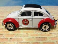 1999 Matchbox 1962 VW Beetle Coca-Cola Collectible 1:64 Real Riders Red White